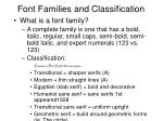 font families and classification