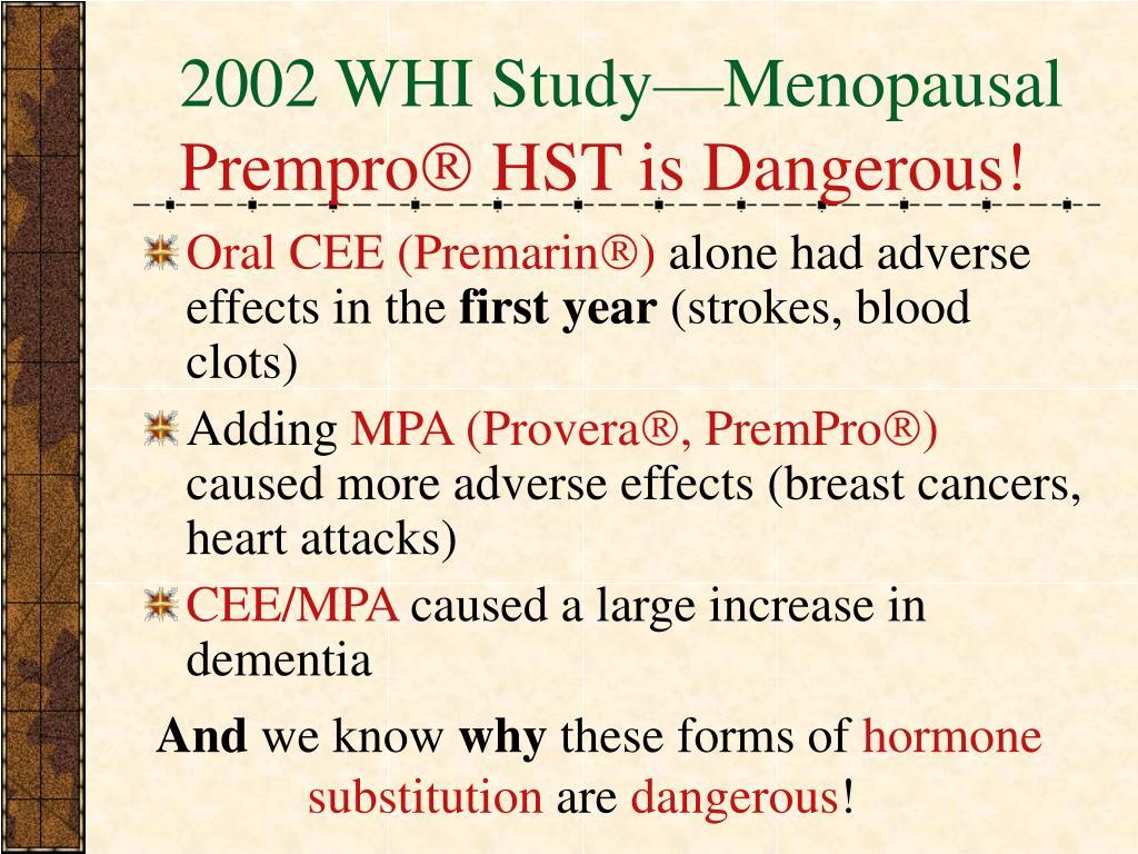 2002 WHI Study—Menopausal
