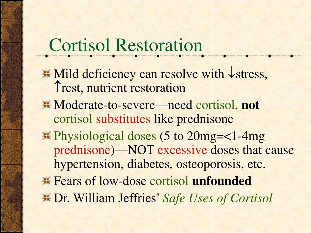 Cortisol Restoration