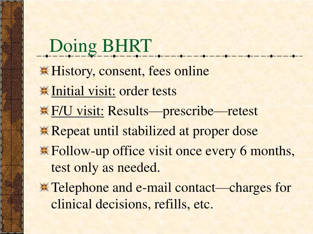 Doing BHRT