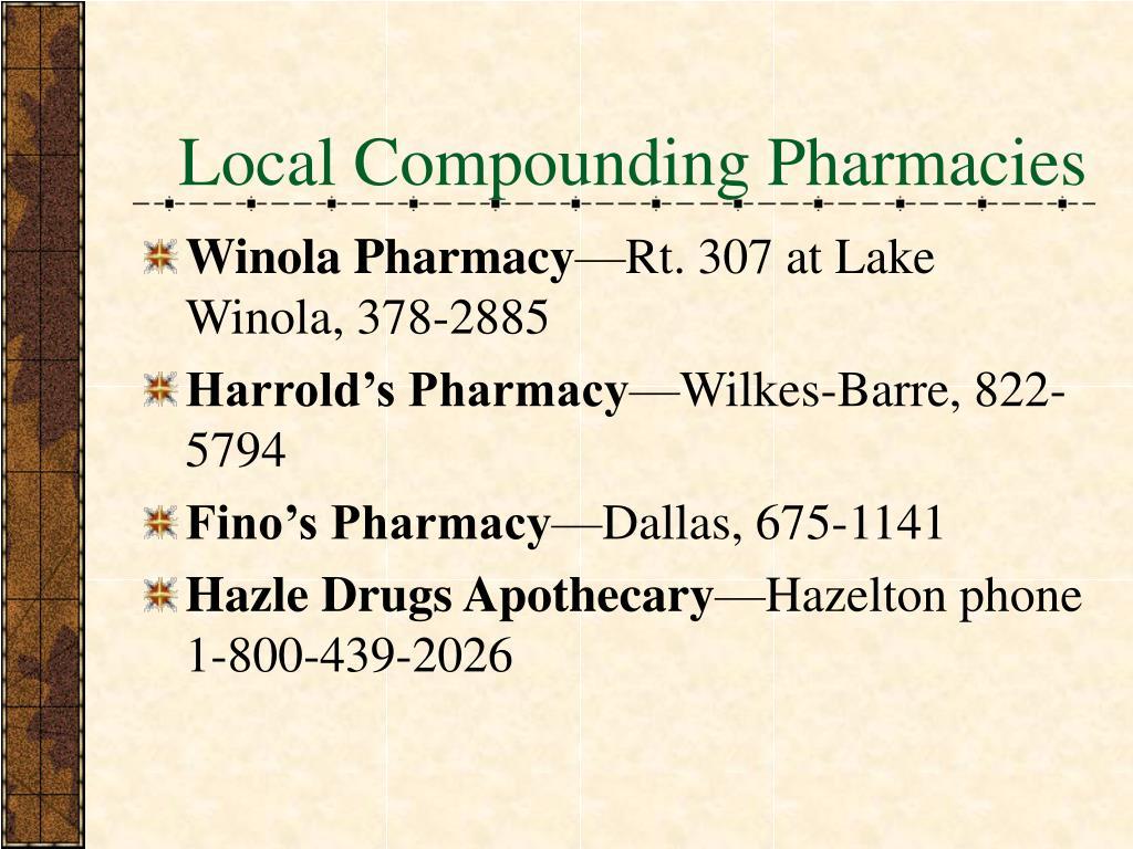 Local Compounding Pharmacies