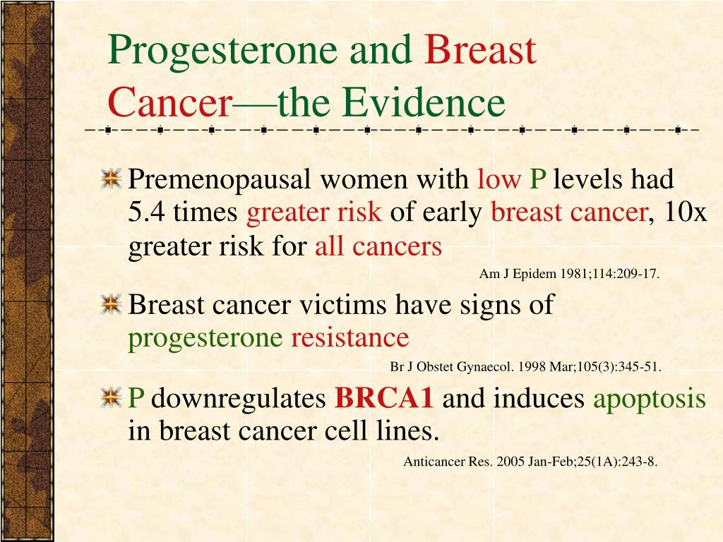 Progesterone and