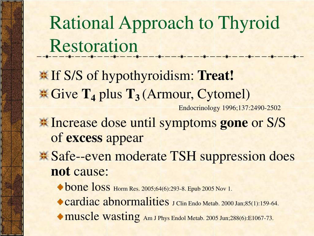 Rational Approach to Thyroid Restoration