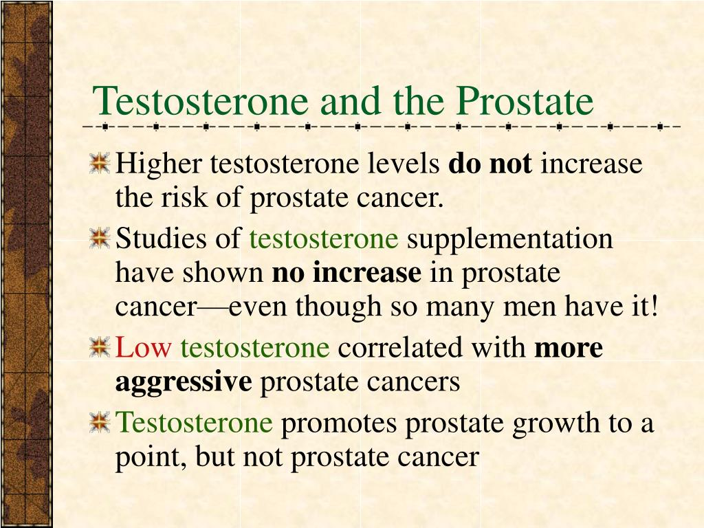 Testosterone and the Prostate