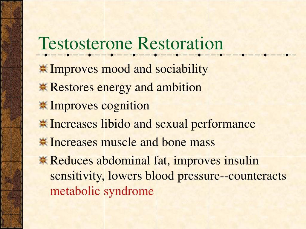 Testosterone Restoration
