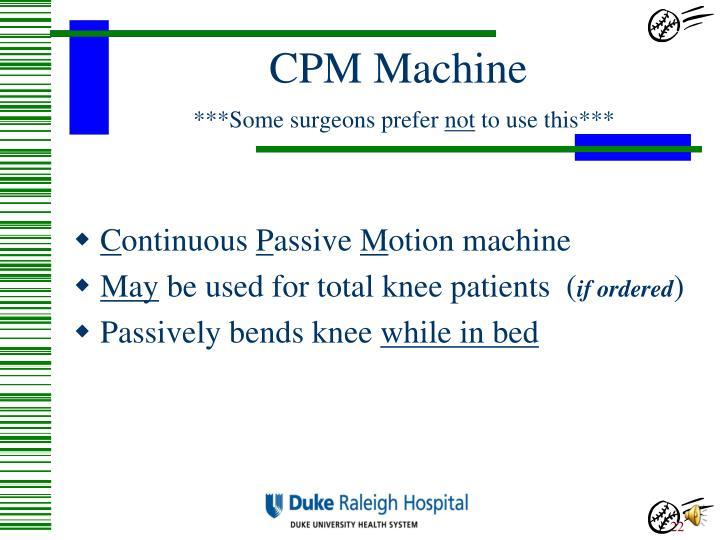 CPM Machine