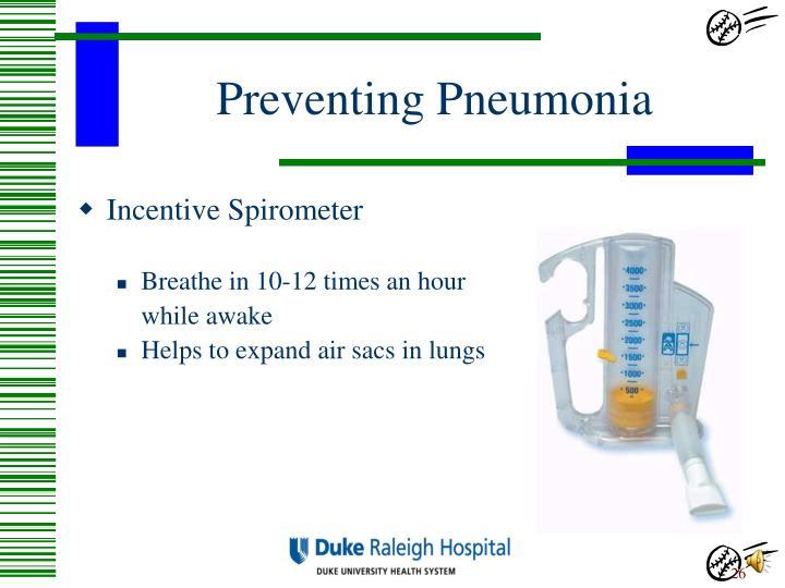 Preventing Pneumonia