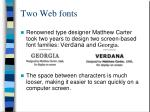 two web fonts