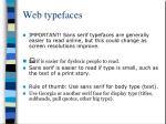 web typefaces