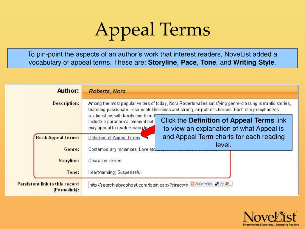 Appeal Terms