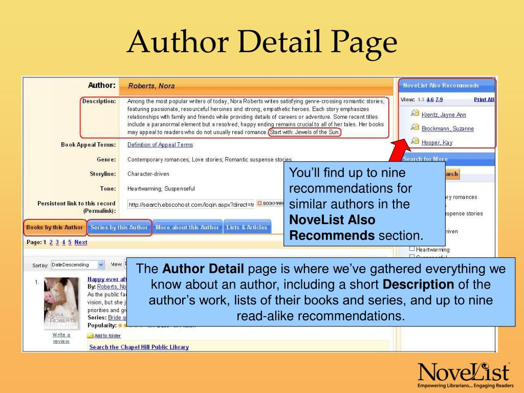 Author Detail Page