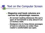 text on the computer screen10
