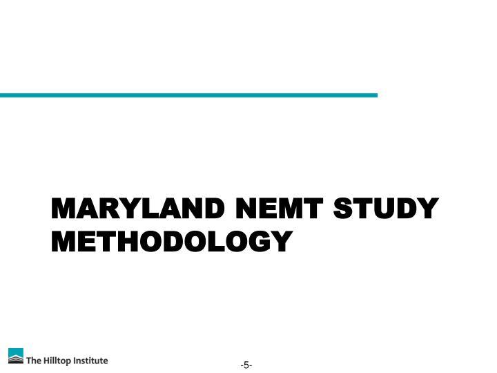 Maryland NEMT Study Methodology