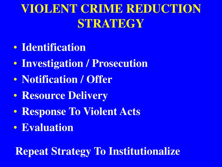 Violent crime reduction strategy