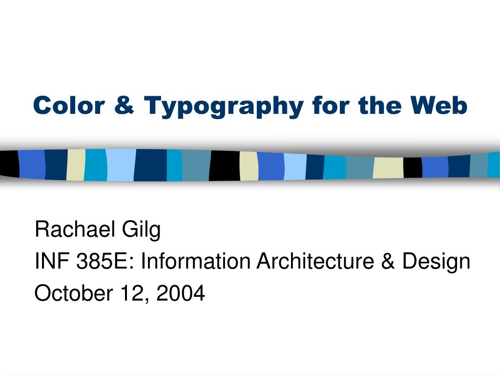 color typography for the web l.