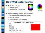 how web color works