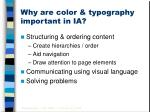 why are color typography important in ia