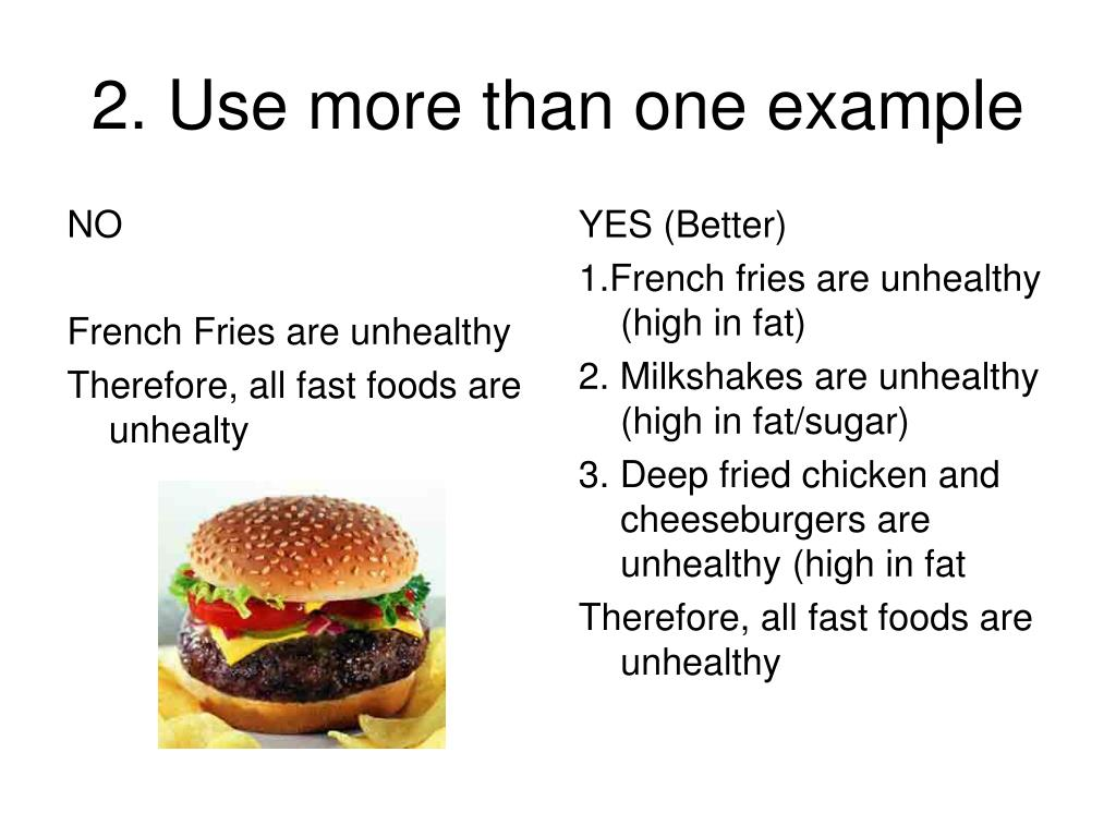 2. Use more than one example