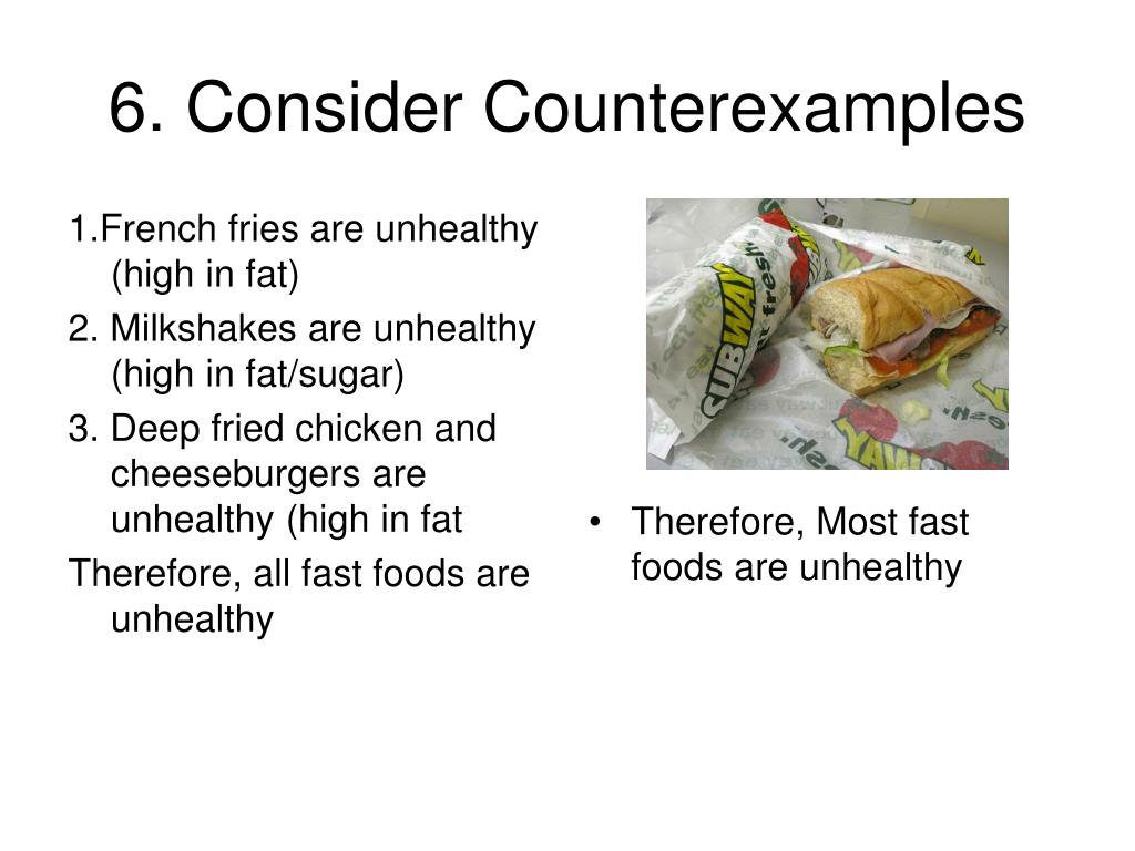 6. Consider Counterexamples