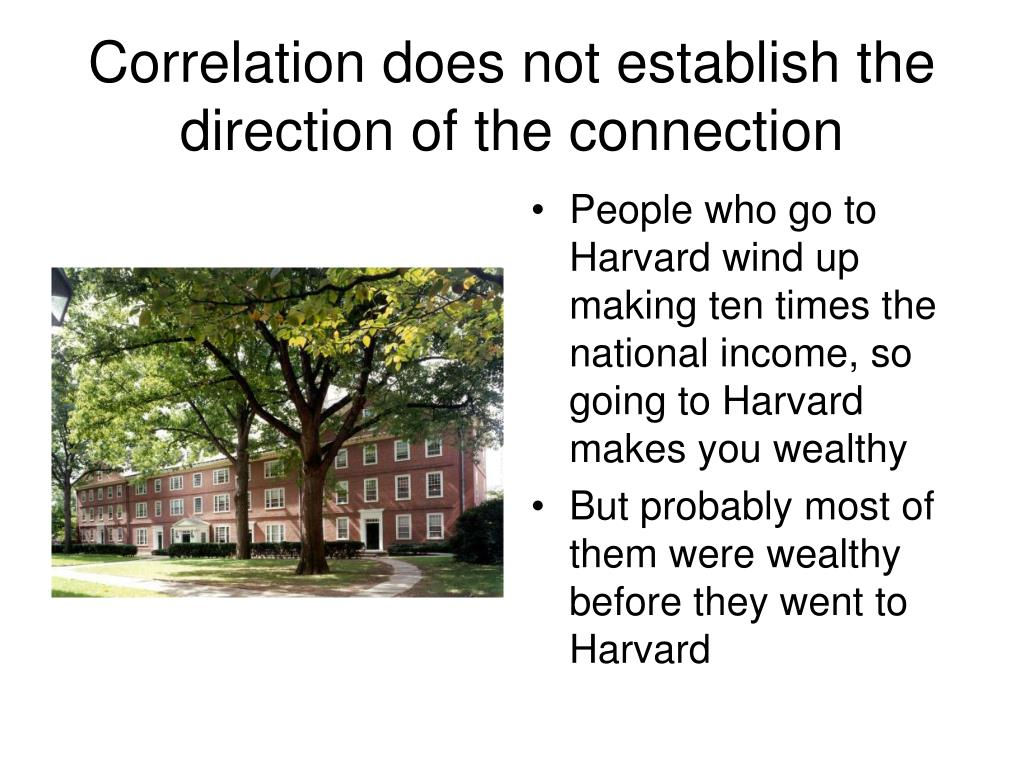 Correlation does not establish the direction of the connection