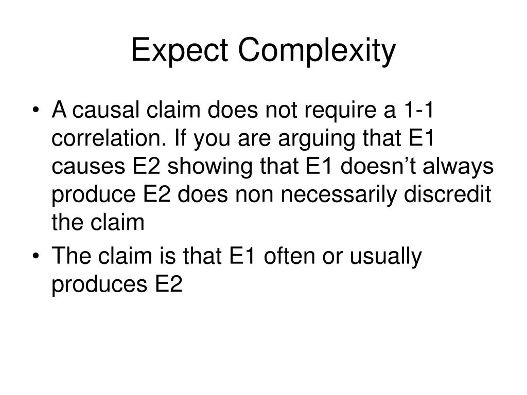 Expect Complexity