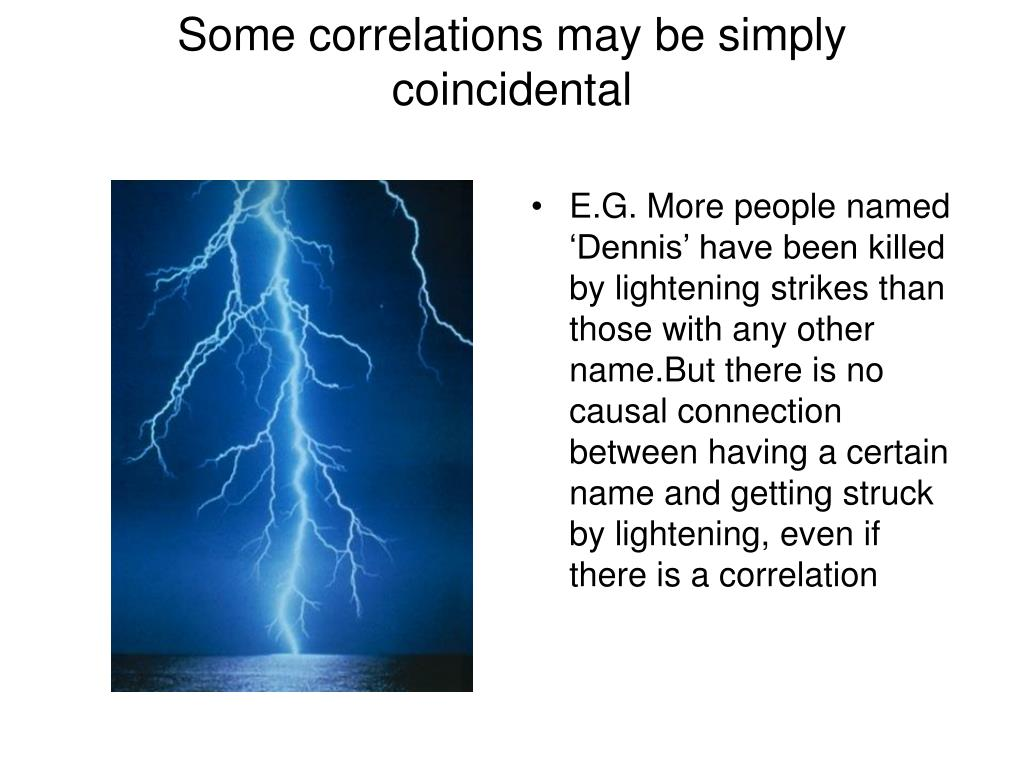 Some correlations may be simply coincidental