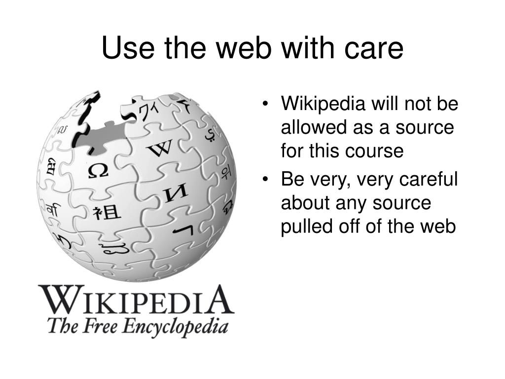 Use the web with care