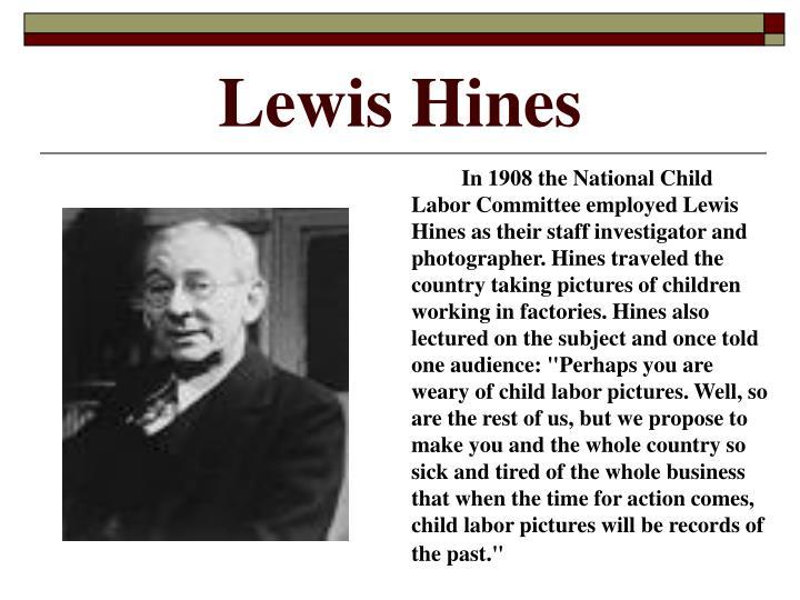 Lewis hines