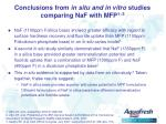 conclusions from in situ and in vitro studies comparing naf with mfp 1 3