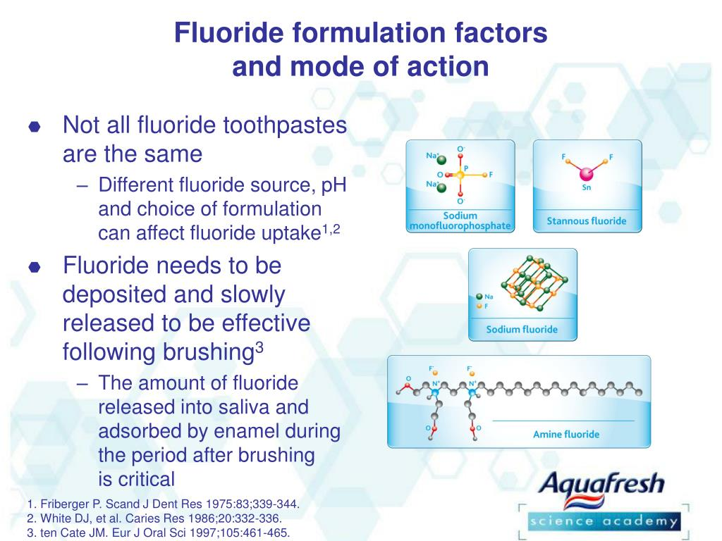Fluoride formulation factors