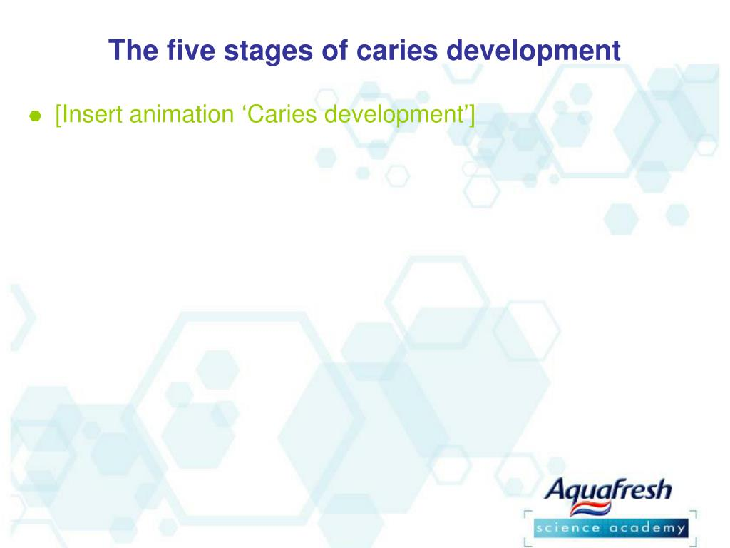 The five stages of caries development
