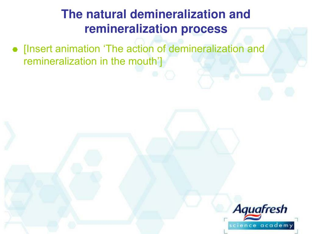 The natural demineralization and remineralization process