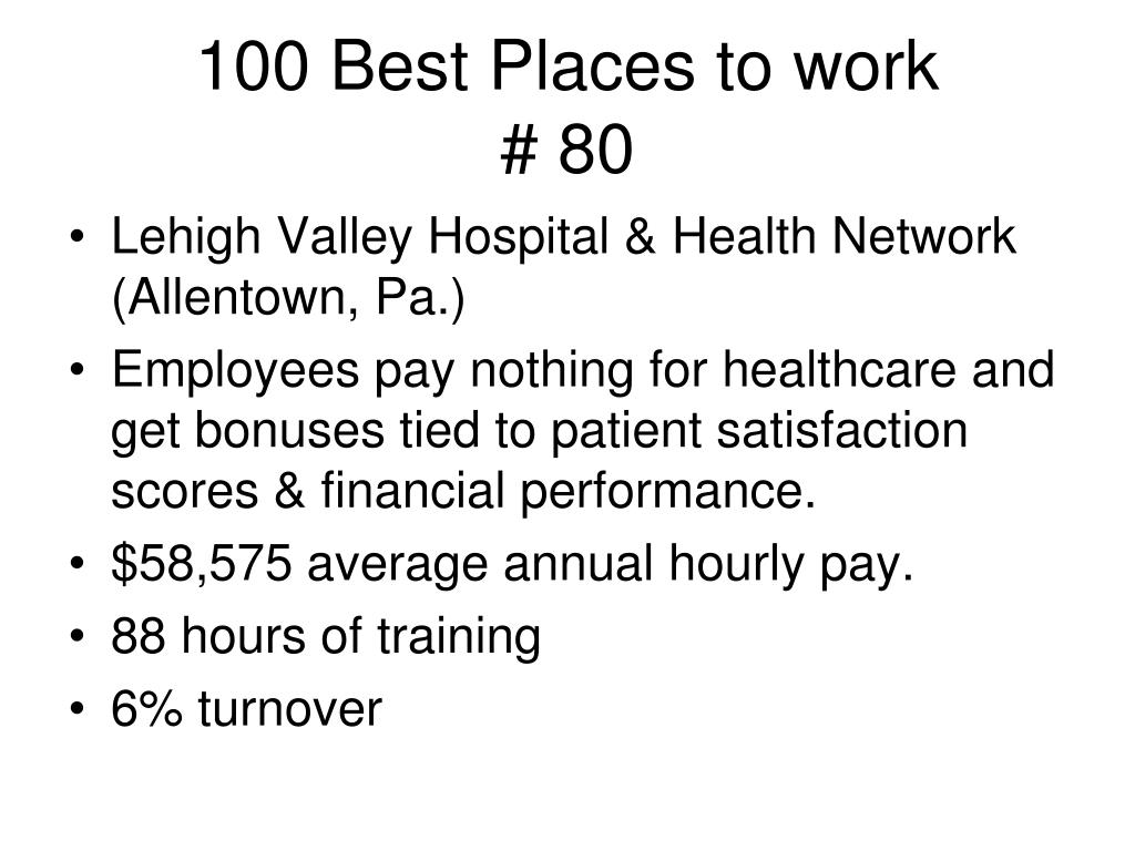 100 Best Places to work
