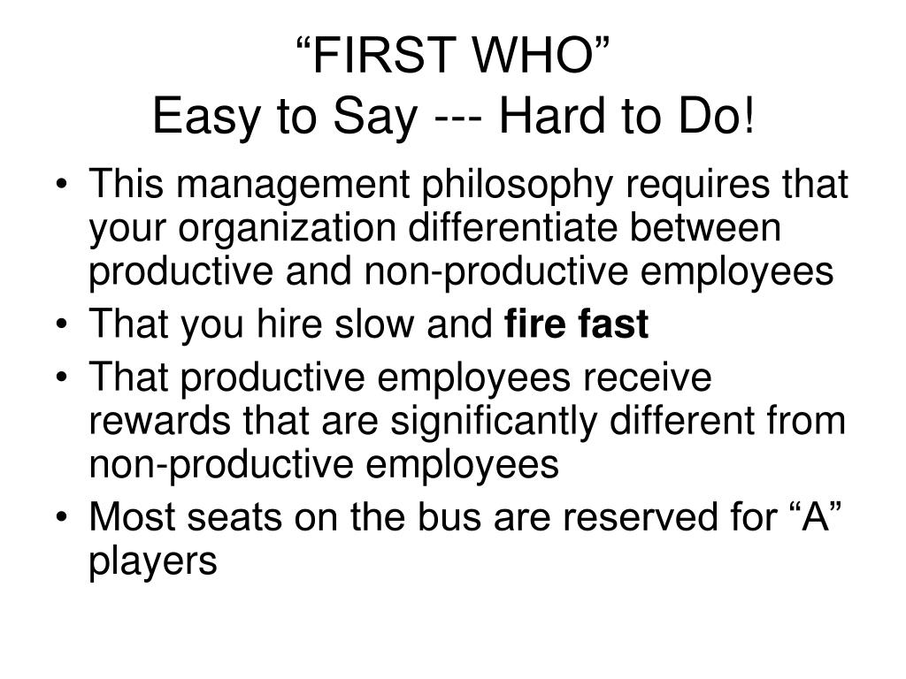 """""""FIRST WHO"""""""