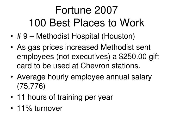 Fortune 2007 100 best places to work