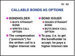 callable bonds as options