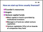 how are start up firms usually financed98