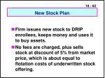 new stock plan