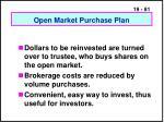 open market purchase plan
