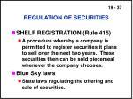 regulation of securities