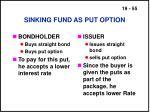 sinking fund as put option