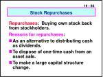 stock repurchases