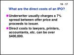 what are the direct costs of an ipo