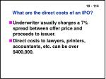 what are the direct costs of an ipo114