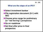 what are the steps of an ipo