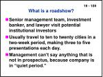 what is a roadshow