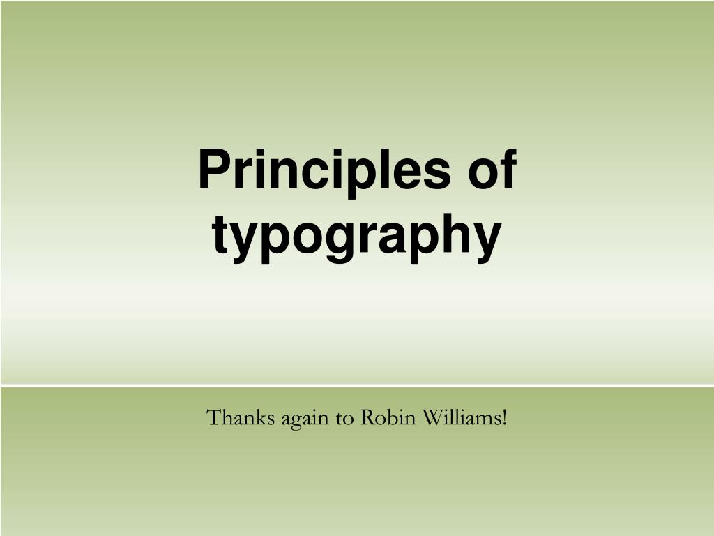 principles of typography l.