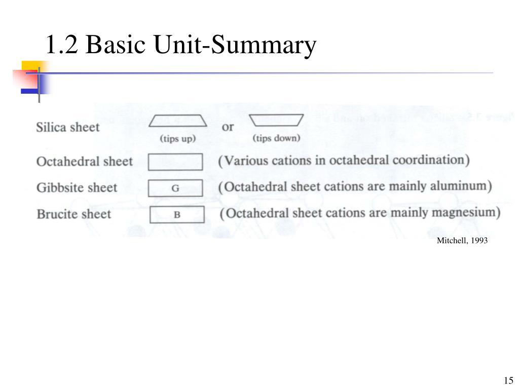 1.2 Basic Unit-Summary