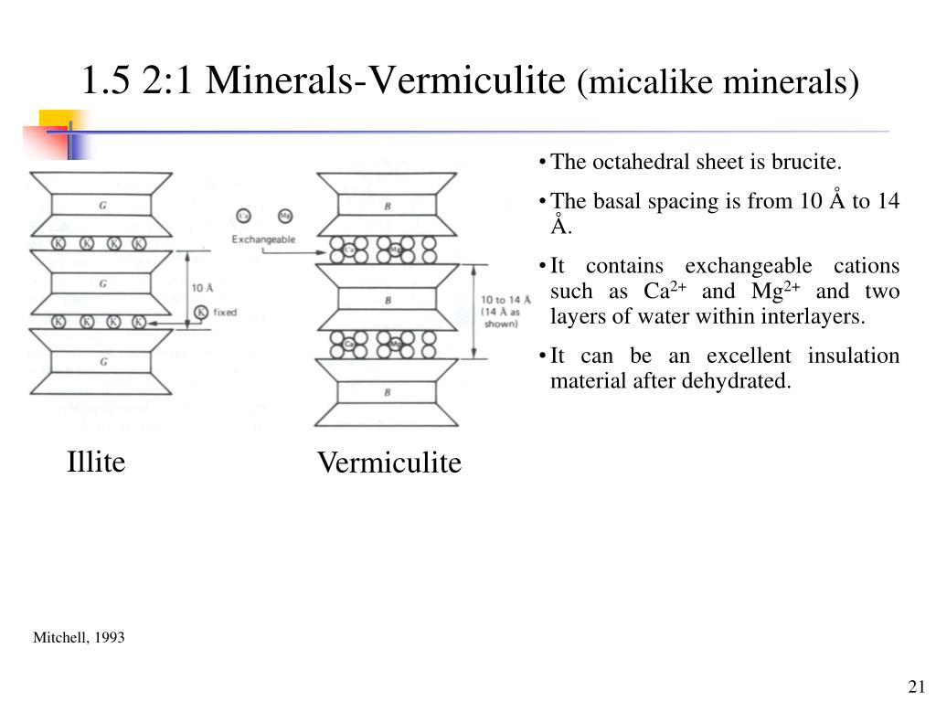 1.5 2:1 Minerals-Vermiculite