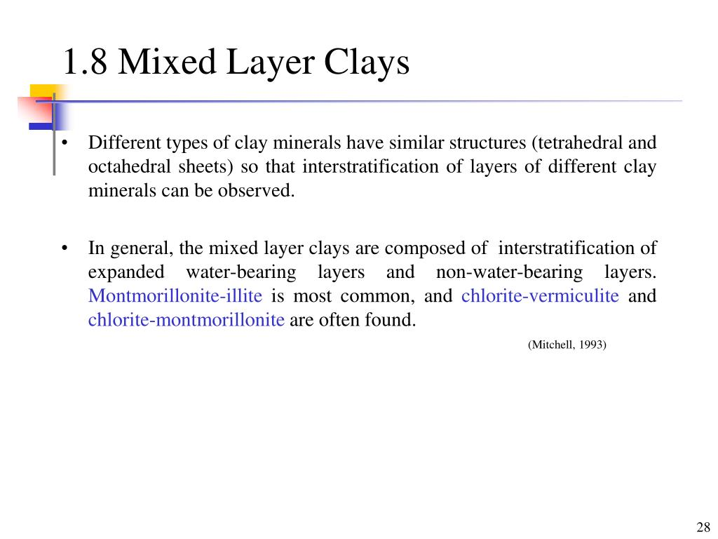 1.8 Mixed Layer Clays